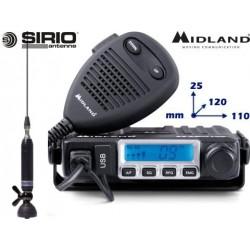 Radio CB Midland M-Mini + Antenna Sirio