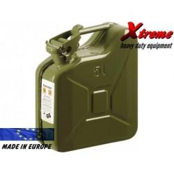 Tanica carburante in acciaio  da 5 Lt. Militare
